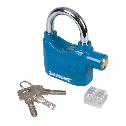 Silverline 507205 Aluminium Alloy Alarm Padlock 70mm